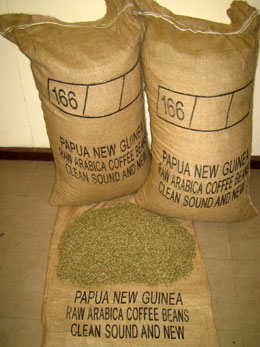 PNG Arabicas Coffee green beans